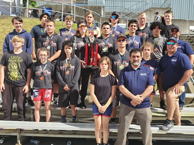 COURTESY PHOTO - The Kennedy wrestling team enjoyed its best finish in program history, placing second at the Special District 1 championships on June 16.