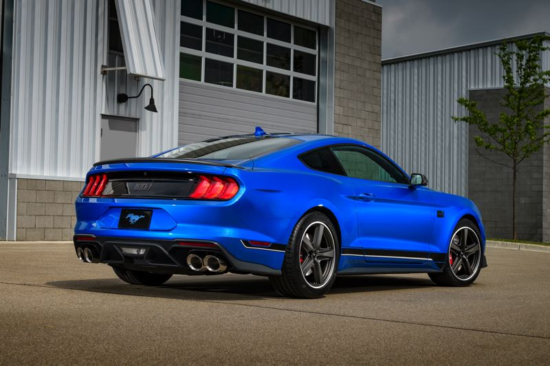 COURTESY FORD MOTOR COMPANY - Unique components on the 2021 Ford Mustang Mach 1 include the oversized exhaust that sounds as good as it looks.
