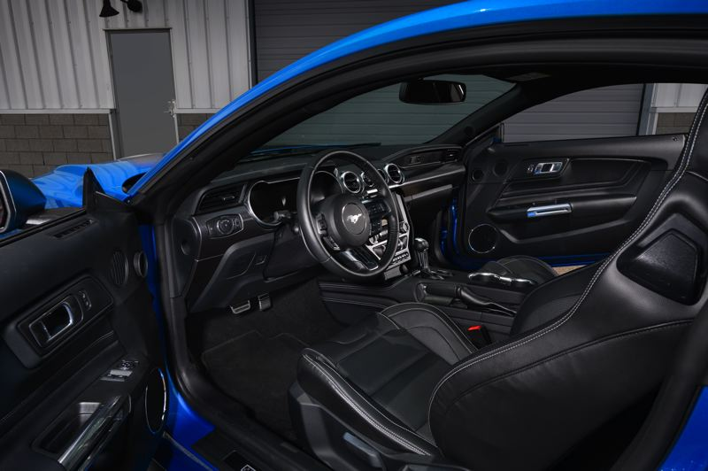COURTESY FORD MOTOR COMPANY - The retro styling of the 2021 Ford Mustang Mach 1 continues with the classic Pony Car interior, which can nevertheless be outfitted with just about every advanced automotive technology.