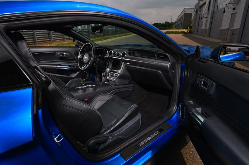 COURTESY FORD MOTOR COMPANY - The deep and well-bolstered front buck seats keep the driver and passenger in the 2021 Ford Mustang Mach 1 planted during hard driving.