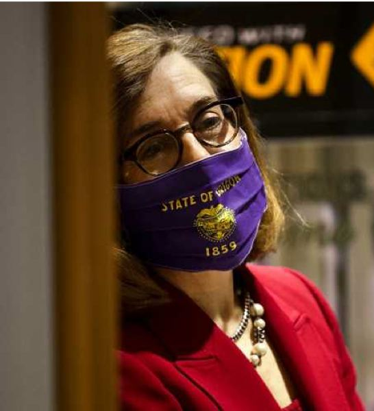 PMG FILE PHOTO - Oregon Gov. Kate Brown earlier in the pandemic.