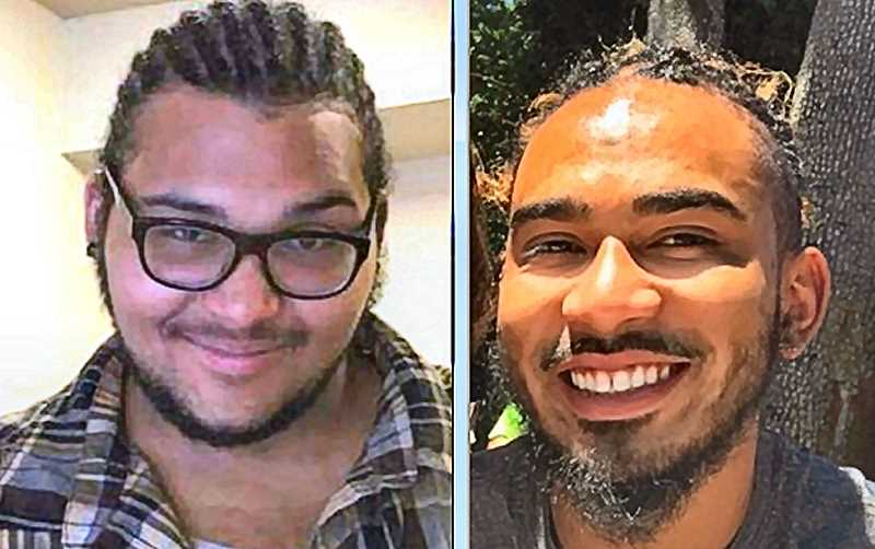 FAMILY-PROVIDED PHOTOS - One of the murder victims was 27-year-old Kendall Gragg, at left; another was 31-year-old Mitchell Nacoste, at right. Photos of the remaining two victims have not yet been released - and details of the crime have not been disclosed yet, either.