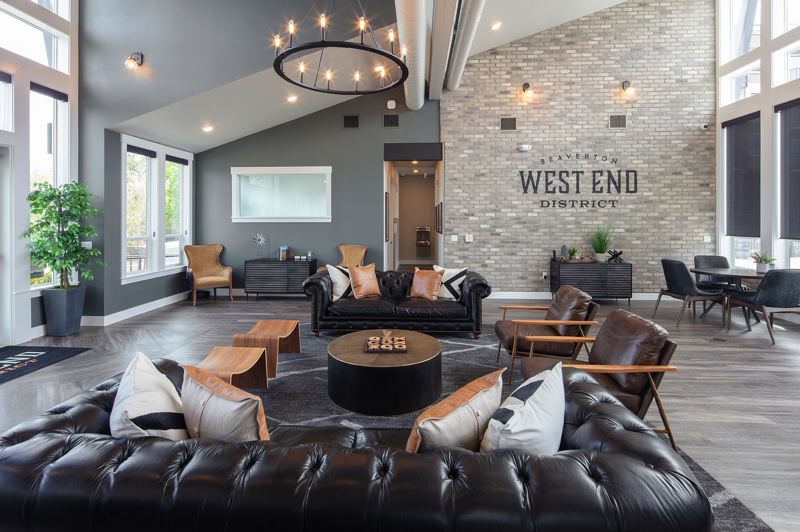COURTESY PHOTO: C&R REAL ESTATE SERVICES CO. - The leasing center for Beaverton West End District apartments is now open.