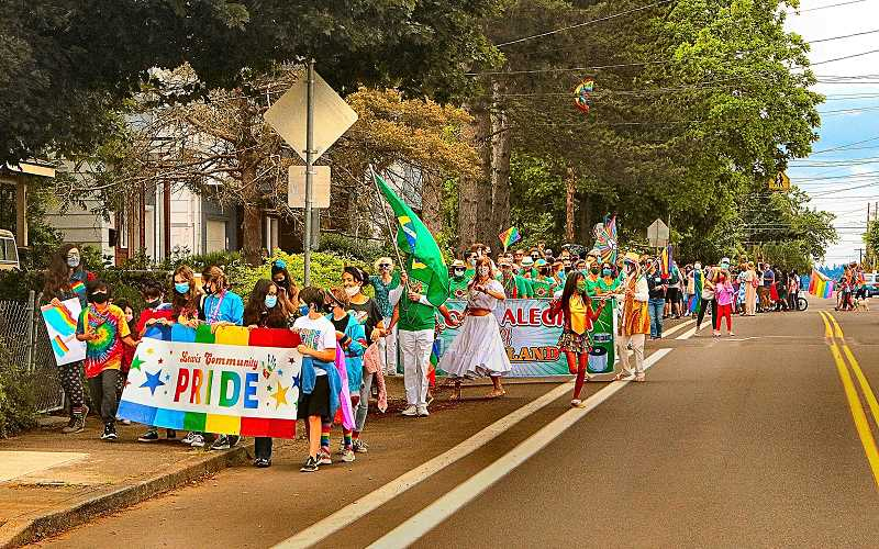 DAVID F. ASHTON - The Lewis Community Pride Parade stepped off into the Woodstock neighborhood on June 5th.