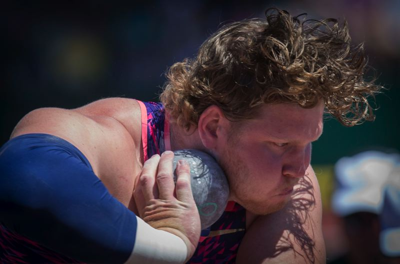 PMG FILE PHOTO - Ryan Crouser shattered the shot put world record last weekend at the Olympic Trials in Eugene Friday, June 18.