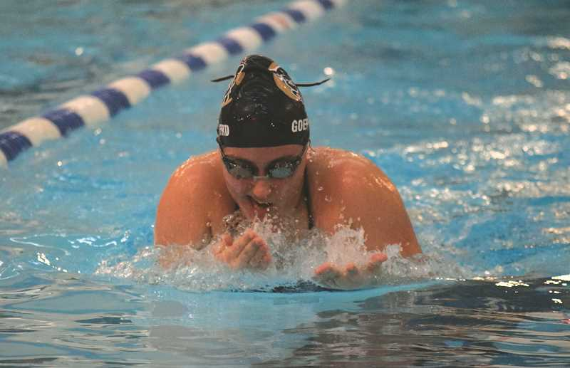 FILE PHOTO - The Canby High swim team finsihed up its season June 19 with a dual meet against Oregon City.