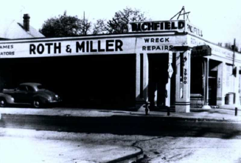 COURTESY PHOTO - Roth & Miller Autobody, here pictured circa 1946, is now celebrating its 75th anniversary.