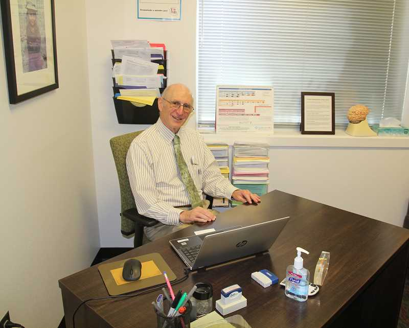 PMG PHOTO: JUSTIN MUCH - Woodburn Pediatric Clinic founder Dr. Richard Steinberg retires this summer after providing health care in Woodburn for 48 years.
