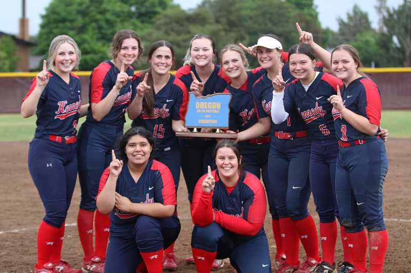 COURTESY PHOTO: ANDRE PANSE - The 2021 Kennedy softball team led the 2A/1A classification with the highest GPA, and earned Academic All-State honors.