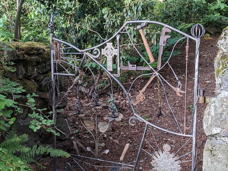 COURTESY PHOTO - A second gate built by metal sculptor Ray Huston, just installed this month, was stolen overnight on June 22/23.