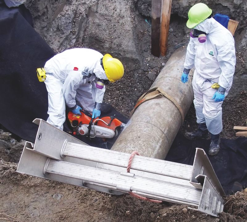 COURTESY: LEAGUE OF OREGON CITIES - Maintenance of water infrastructure is crucial for continued economic growth. Workers are seen here beginning to repair a section of water pipe in the city of Portland.