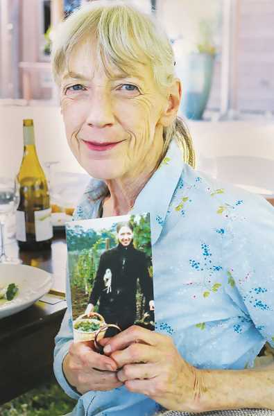 COURTESY PHOTO: ADELSHEIM WINERY - Then and now: Ginny Adelsheim and the other featured guests were gifted with photos of themselves in the 1970s when they kicked off the wine industry in northwest Oregon.