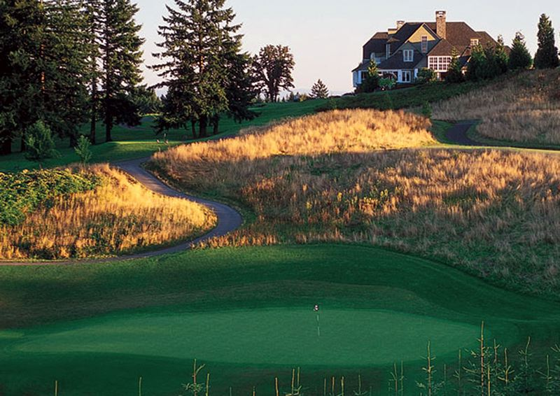 COURTESY PHOTO: OREGON GOLF CLUB - West Linn's Oregon Golf Club - this is OGC's sixth hole - will serve as home for the Portland Cambia Classic LPGA tournment in 2021 after concerns about homeless camps near Columbia Edgewater Country Club led organizers to move the event.
