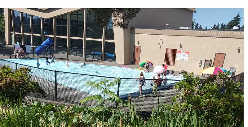 PMG PHOTO: RAYMOND RENDLEMAN - Oregon City has opened its municipal pool in time for what promises to be a record-breaking June heat wave.
