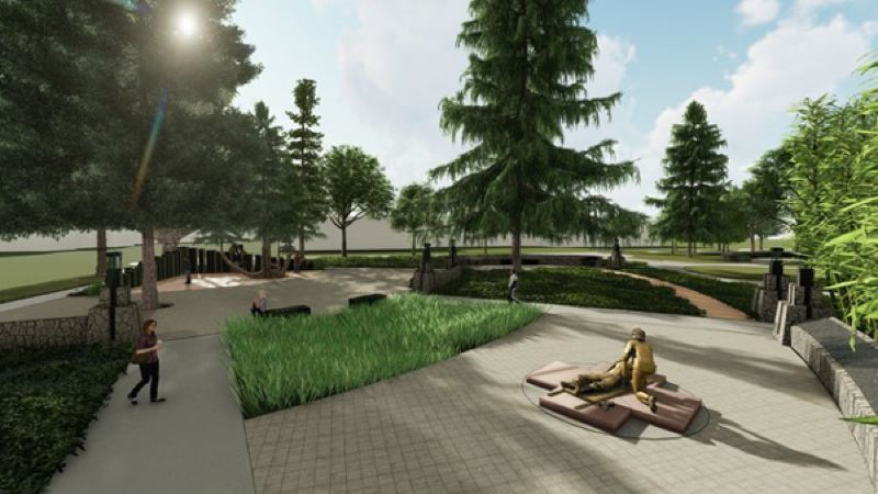 (Image is Clickable Link) COURTESY PHOTO: VIETNAM WAR MEMORIAL FUND - A rendering shows the proposed Vietnam Veterans Memorial planned for the state capitol grounds.