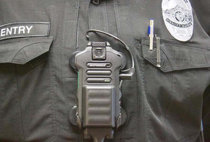 PMG PHOTO: CHRISTOPHER KEIZUR - Police departments throughout the country have implemented body-worn cameras for all sworn officers.