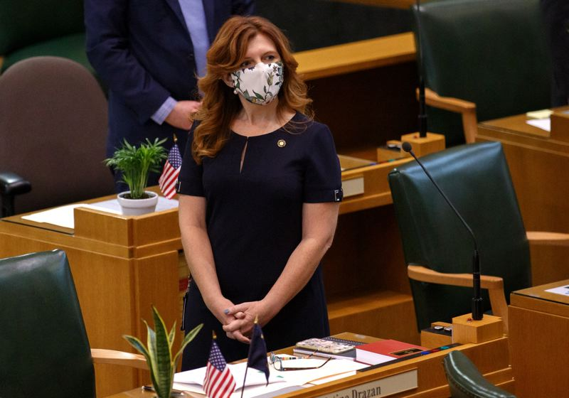 PMG FILE PHOTO - House Republican Leader Christine Drazan of Canby was not upbeat about the Legislature's accomplishments.