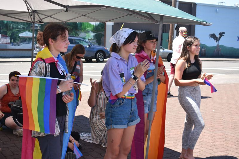 PMG PHOTO: STEVEN BROWN - Participants at Saturdays SAFE event braved afternoon heat in excess of 100 degrees to show their support of LGBTQ individuals.
