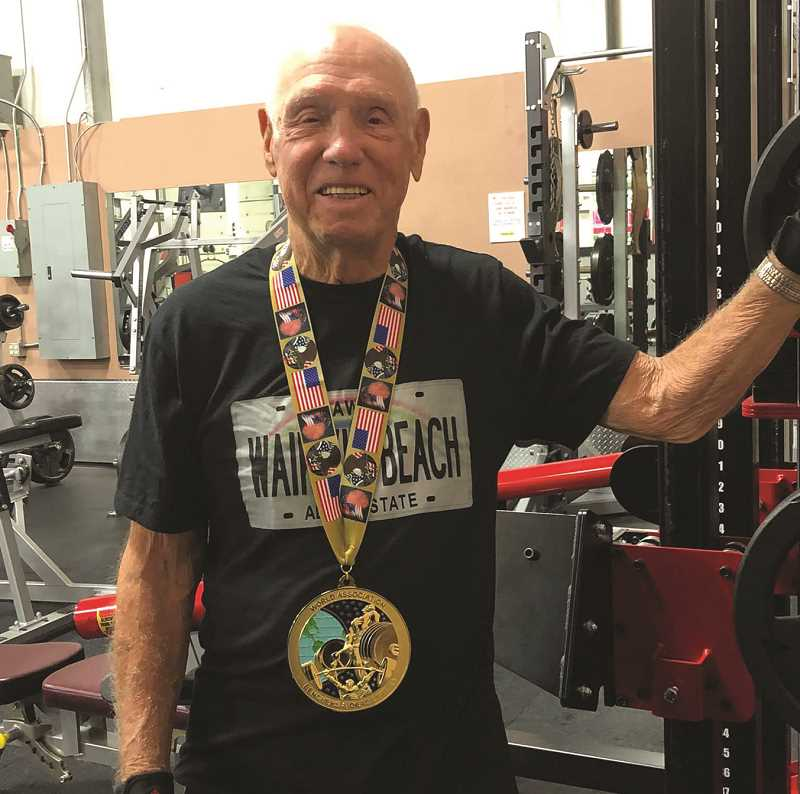 COURTESY PHOTO: ROGER MOORE - For 92-year-old Roger Moore, the pursuit of more lifting records will have him look to move into a new weight class in the future.