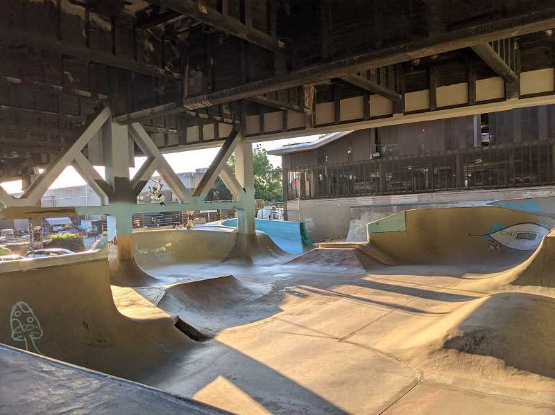 PAMPLIN MEDIA GROUP: JOSEPH GALLIVAN - The next Burnside Bridge will close the Burnside Skatepark at the east end of the bridge for a year or two during construction. The goal is to build a bridge that keeps most of the world-famous park intact.