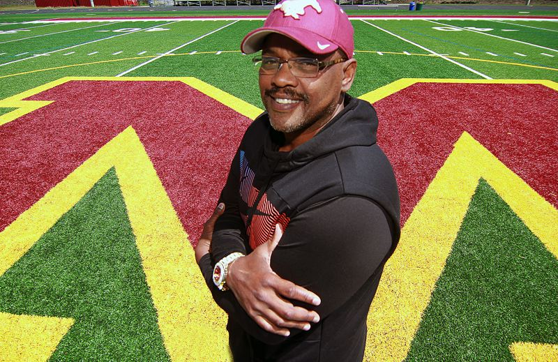 PMG PHOTO: MILES VANCE - Tim Price was hired in June as the new head football coach at Milwaukie High School, replacing Colin Schaeffer who led the Mustangs for three seasons.