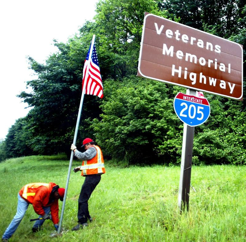 PMG FILE PHOTO - Two decades ago, Interstate 205 in Portland was designated the Veterans Memorial Highway.