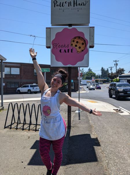 PMG PHOTO: BRITTANY ALLEN - Kaylie Klitzing opened Keeks Cafe in the space that formerly housed Heaven Scent Baked Goods in downtown Boring in May 2021.