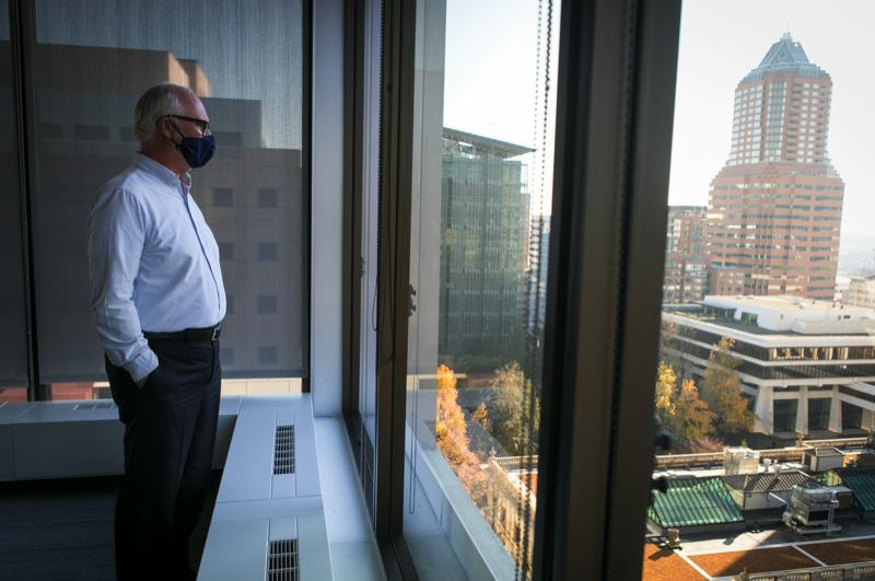 PMG FILE PHOTO - Downtown Portland office workers wonder what will come.