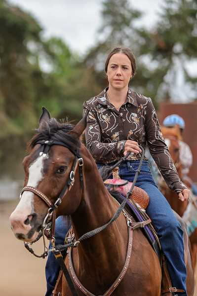 PMG PHOTO: JONATHAN VILLAGOMEZ - Rachelle Riggers' family raised Magic from a foal. The horse only started competing in rodeos a few weeks ago.