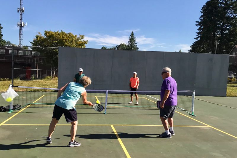 COURTESY PHOTO: CAROL COHEN - Sandy has two new pickleball courts available with a membership and by reservation on the old Cedar Ridge Middle School tennis courts.