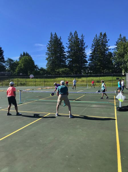 COURTESY PHOTO: CAROL COHEN - A ribbon cutting, complete with refreshments and recreation, is scheduled for July 17 at the pickleball courts.