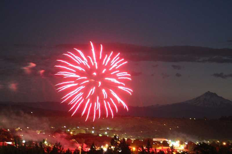 PMG FILE PHOTO - Fireworks have been either banned or discouraged in most local areas this weekend, but the Banks Speedway and Hillsboro Hops are offering professional shows for local residents.
