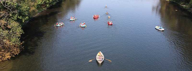 COURTESY PHOTO: CLACKAMAS COUNTY - Clackamas River floaters generally start at Barton Park and paddle down the river to Carver Park.