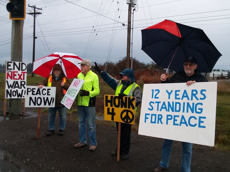 COURTESY PHOTO - A group of Sandyites for peace have hosted vigils promoting peace since 2007.