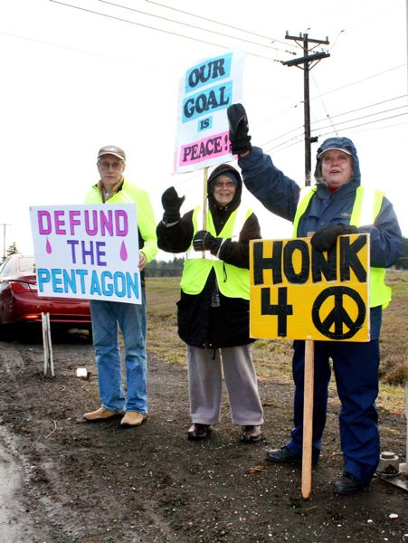 PMG FILE PHOTO - Sandy Peace Vigil participants included retired teachers, veterans, and others.