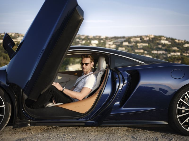 COURTESY MCLAREN - Getting in and out of the scissor doors gracefully on the 2020 McLaren GT takes a little practice. Just remember, everyone will be staring at you.