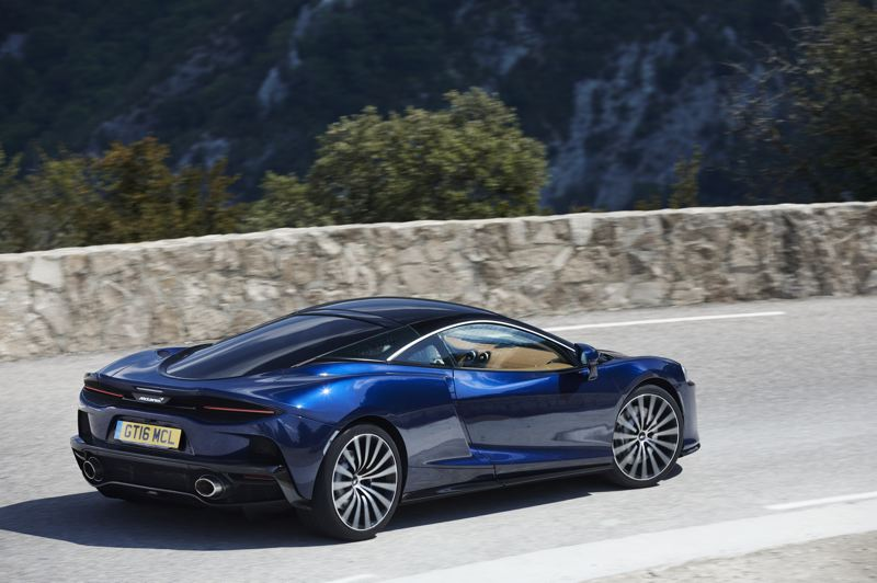 COURTESY MCLAREN - Even the rear end of the 2020 McLaren GT looks like no other car on the planet.