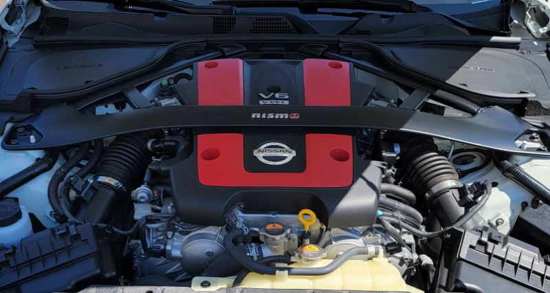 PMG PHOTO: JIM REDDEN - The 3.7-liter V6 in the 2020 Nissan 370Z NISMO pumps out 350 horsepower and 276 foot pounds of torque.
