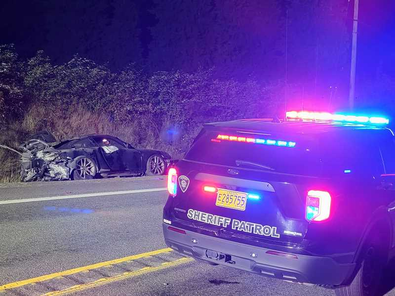 COURTESY MARION COUNTY SHERIFF'S OFFICE - A high speed crash on Ehlen Road led to the death of a 35-year-old Tualatin man.