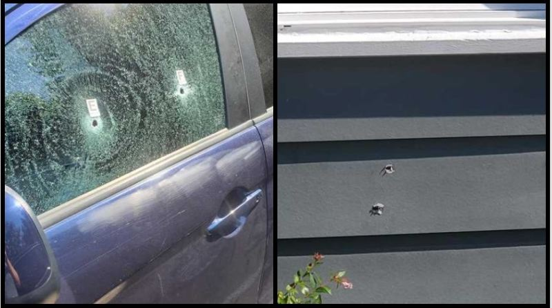 COURTESY PHOTO: MISTY GARRETT - Shooting damage from the June 29 incident.