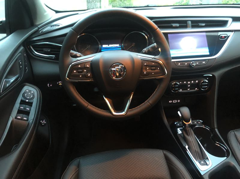 PMG PHOTO: JEFF ZURSCHMEIDE - 2021 Buick Inside, you can get every bell and whistle you can think of in the Encore GX.