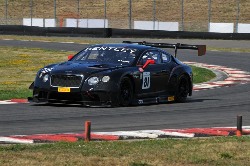 PMG PHOTO: JEFF ZURSCHMEIDE - Peter Baljet of Duncan, British Columbia, drove his Bentley GT3 sports car to victory in the 2019 Rose Cup race with a 24-second margin of victory.