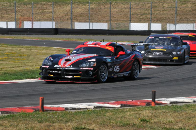 PMG PHOTO: JEFF ZURSCHMEIDE - Cindi Lux has finished as high as third place driving her Dodge Viper in prior Rose Cup races. She has a family history with the event dating back to the first Rose Cup race in 1961 and is always a contender for the podium.