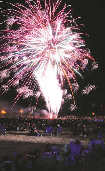 PMG FILE PHOTO - Local residents will have an opportunity to see large-scale fireworks on July 24 during the abbreviated Old Fashioned Festival. The fireworks will be set off from the former WestRock paper mill on Wynooski Street beginning at 10 p.m.