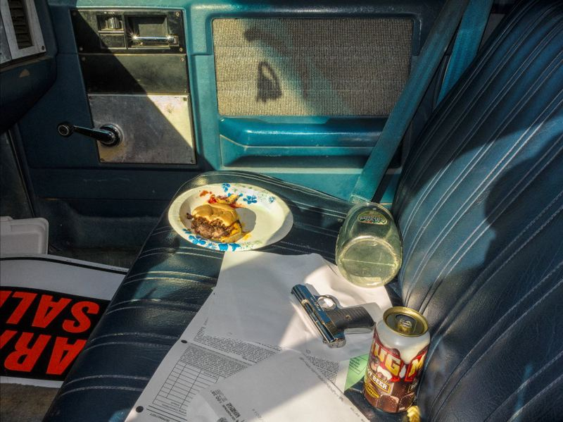 COURTESY PHOTO - Blue Sky Gallery's photo exhibit 'American Interiors' by ML Casteel depicts psychological repercussions of war through cars owned by veterans.