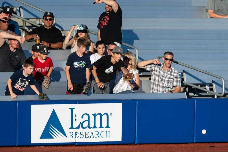 PMG FILE PHOTO - The Hillsboro Hops and Lam Research announced a partnership July 7, to honor local citizens who went above and beyond during the past year's difficulties.