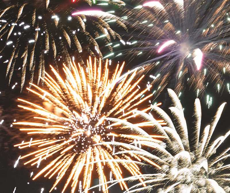 PMG FILE PHOTO - Professional fireworks shows capped off various Fourth of July celebrations throughout Oregon.