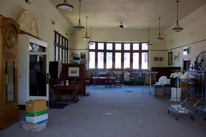 PMG PHOTO: CHRISTOPHER KEIZUR - The inside of the Gresham History Museum is unrecognizable as everything is being removed to protect it from water damage and mold.