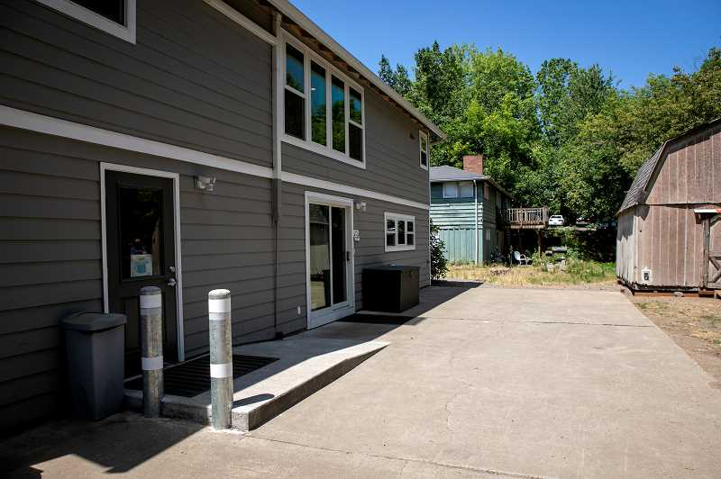 PMG PHOTO: JAIME VALDEZ - The bottom floor of Just Compassions Resource Center in Tigard, left, was remodeled last fall and includes floor space to house homeless individuals during inclement weather.