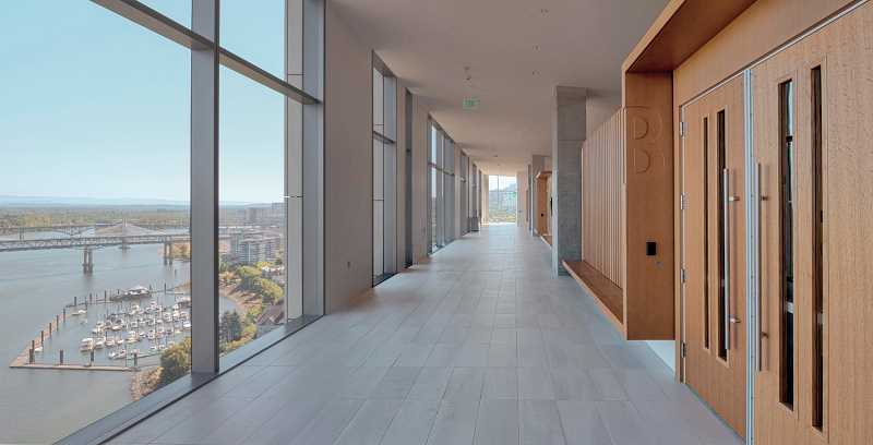 COURTESY PHOTO: SRG PARTNERSHIP - A typical hallway on one of the upper floors of the new Multnomah County Courthouse.